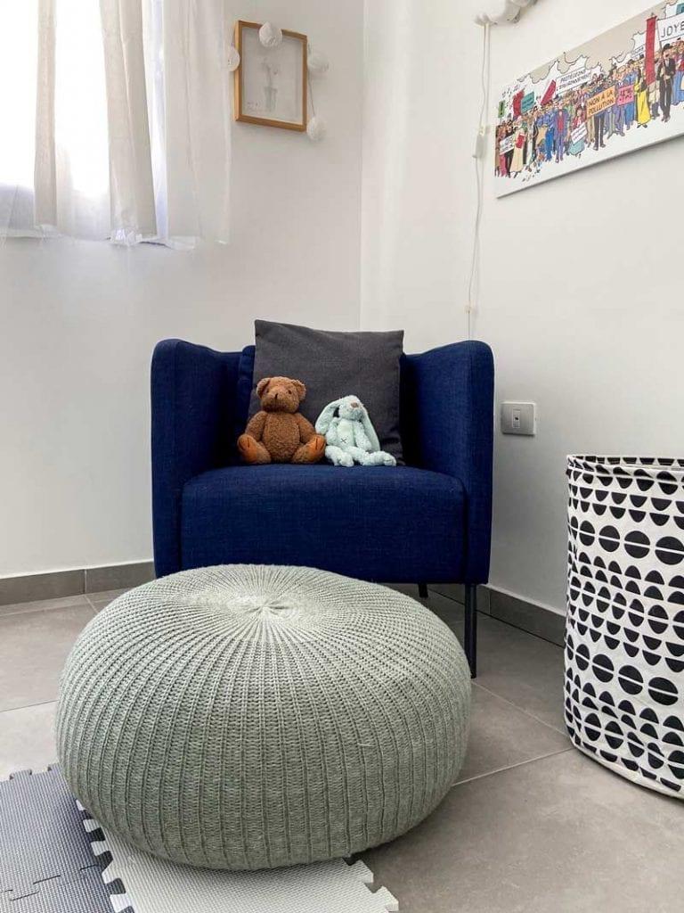 כורסא ורהיטים גדולים בעיצוב חדרי ילדים