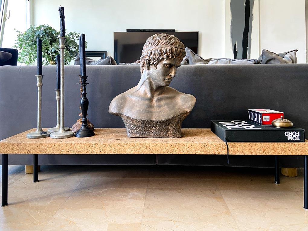 פסל רומי משוק הפשפשים בדירה של דימה וגל