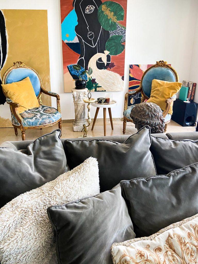 ציורי קיר בדירה של דימה וגל ציורים של גל
