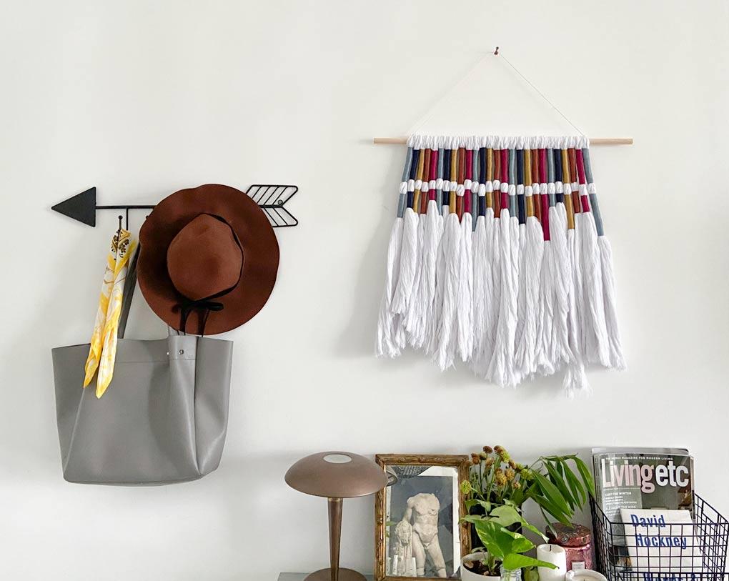 DIY Textile Wall Hanging — הפרויקט שהחזיר אותי לימי שנקר