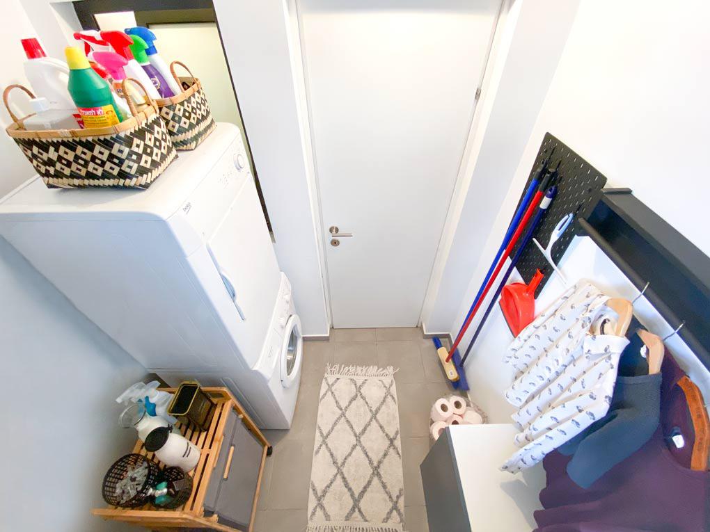 חדר שירות כביסה ומוצרי ניקיון מהפך בחדר