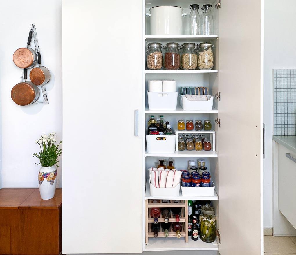 עיצוב פנים (המטבח): סידור וארגון המזווה הביתי — איקאה סטייל