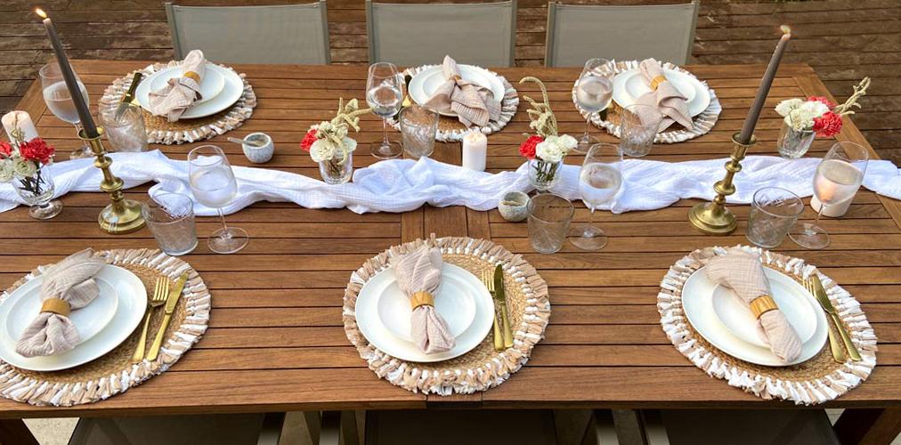 צילום עילי: עריכת שולחן חג השבועות